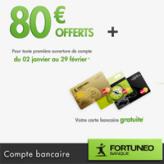 FORTUNEO : Prime de 80 euros + la carte bancaire MasterCard gratuite !