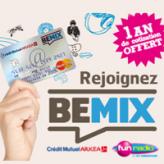 CREDIT MUTUEL : Pack Bemix pour les – de 25 ans avec la carte bancaire gratuite FUN !