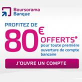 Votre Visa Premier gratuite et 80€ offerts chez Boursorama Banque