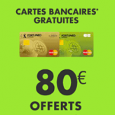Fortuneo : 80€ + la carte bancaire gratuite !