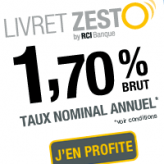 Livret Zesto : le livret épargne à 1,70% !