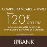 BforBank : Compte bancaire + livret : Jusqu'à 120€ offerts !