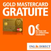ING DIRECT : Compte courant sans frais et la Gold MasterCard gratuite !