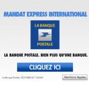 Le Mandat Express International de la Banque Postale maintenant en ligne