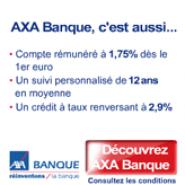 AXA BANQUE : Un compte courant qui vous rapporte et la carte bancaire gratuite