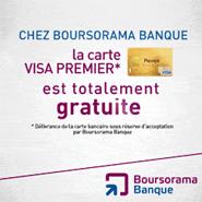 BOURSORAMA BANQUE : Votre carte Visa Premier gratuite et 30 euros offerts