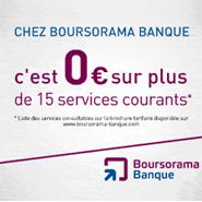 BOURSORAMA BANQUE : Les 15 services les plus courants gratuits et 30 euros offerts