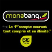 MONABANQ : Compte courant tout compris et en illimité pour 6 euros par mois