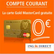 ING DIRECT : La carte bancaire Gold Mastercard gratuite