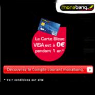 MONABANQ : La carte bleue VISA gratuite pendant 1 an + économie en moyenne de 60% sur frais bancaires