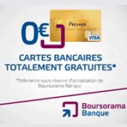 BOURSORAMA BANQUE : Votre carte bancaire gratuite + 30 euros offerts