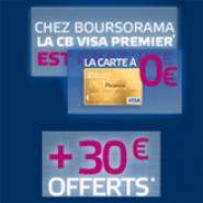 BOURSORAMA BANQUE : Le compte courant Essentiel+ avec la carte Visa Premier gratuite et 30 euros offerts