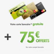 FORTUNEO : La carte bancaire MasterCard gratuite et 75 euros offerts