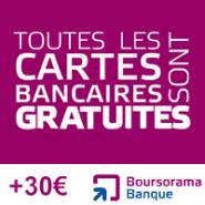 BOURSORAMA BANQUE : La carte bancaire gratuite VISA Premier et une prime de 30 euros