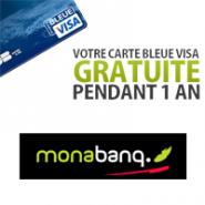 MONABANQ : Des frais ultra réduits et la carte bleue VISA gratuite !