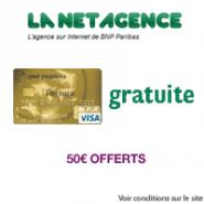LA NET AGENCE : Un compte courant  et la carte bancaire gratuite + minimum 50 euros offerts