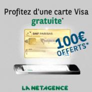 La NET agence : 1 an de gratuité + 100 euros offerts pour un compte personnel et 200 euros pour un compte joint