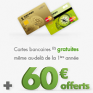 MasterCard classique ou Gold MasterCard gratuite + 60 euros offerts chez Fortuneo !