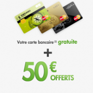 FORTUNEO : 50 euros offerts et la carte bancaire MasterCard gratuite