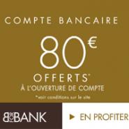 Prime de 80€ et la Carte Visa Premier sont offerts à l'ouverture d'un Compte Courant BforBank