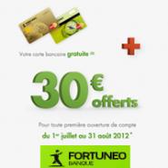La carte bancaire gratuite personnalisable + 30 euros offerts chez FORTUNEO