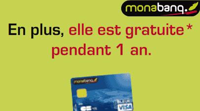 monabanq votre carte bancaire visa gratuite pendant 1 an cartes bancaires gratuites. Black Bedroom Furniture Sets. Home Design Ideas