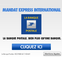 le mandat express international de la banque postale maintenant en ligne cartes bancaires. Black Bedroom Furniture Sets. Home Design Ideas