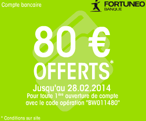Fortuneo offre compte courant