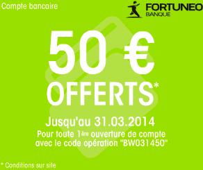 Fortuneo offre compte courant avec prime et carte bancaire gratuite