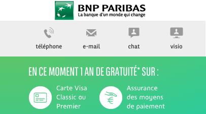BNP PARIBAS : 80 € offerts !